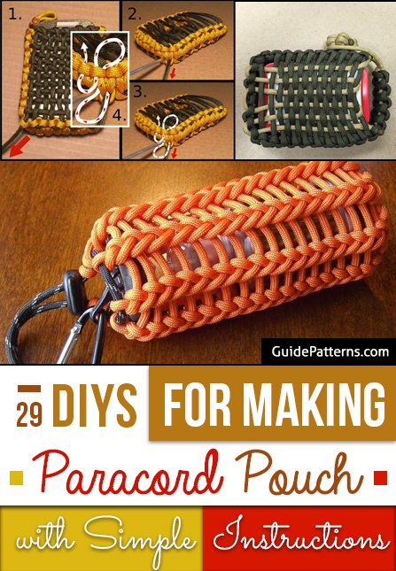 29 DIYs for Making Paracord Pouch with Simple Instructions  Guide Patterns