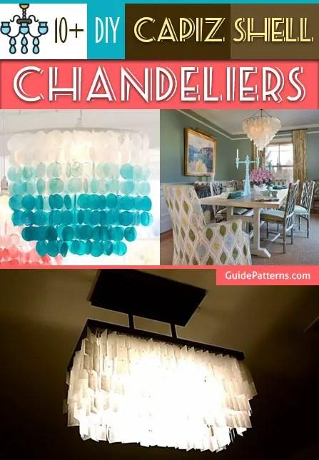 10 DIY Capiz Shell Chandeliers Guide Patterns