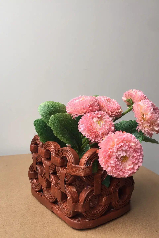 paper flower basket making