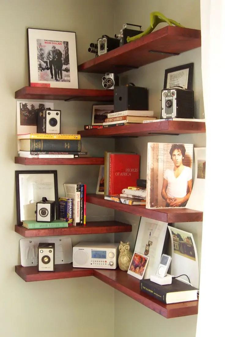 diy shelves in living room cosy colors how to make a corner bookshelf 58 methods guide patterns