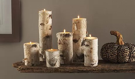 15 DIY Birch Wood Log Candle Holders  Guide Patterns