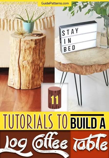 build a log coffee table