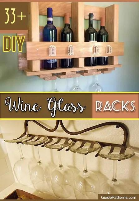 33 DIY Wine Glass Racks Guide Patterns
