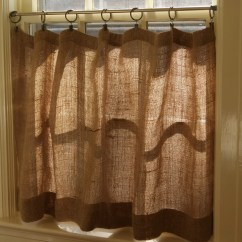 Kitchen Curtain Patterns Table Small 32 43 Diys To Make Burlap Curtains Guide