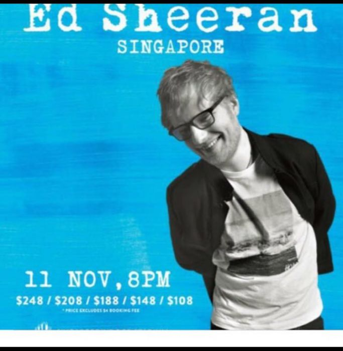Carousell Singapore Ed Sheeran