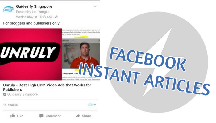 Facebook Instant Articles and Unruly