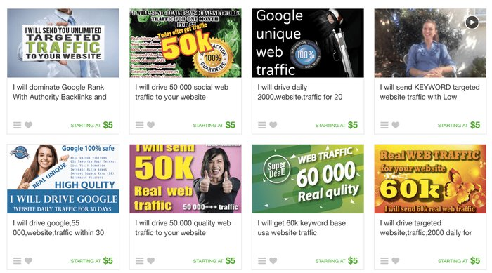 Fiverr Web Traffic Gigs