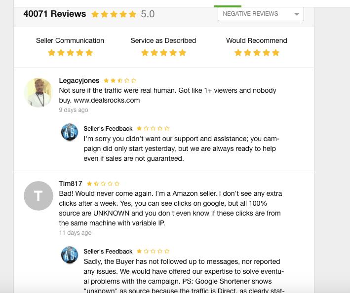 Negative Review Fiverr