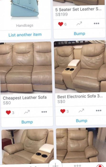 Sofa Leather Carousell
