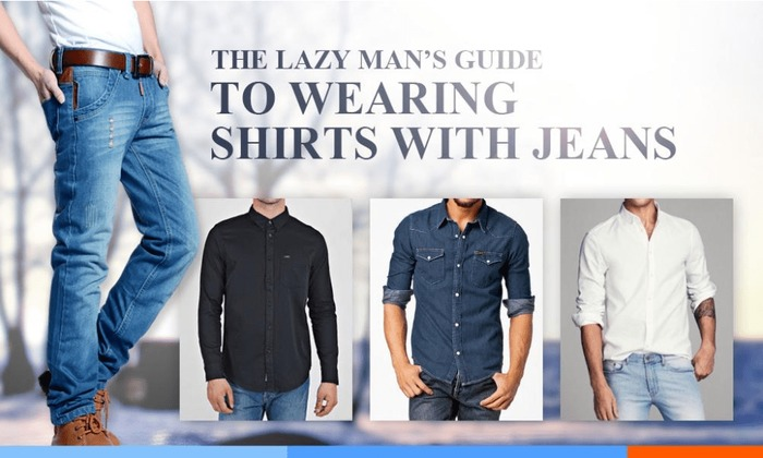 The Lazy Man's Guide To Wearing Shirts With Jeans-minPNG