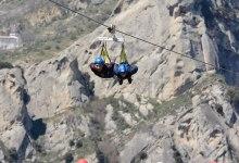 A Rocca Massima il volo dell'angelo più lungo del mondo