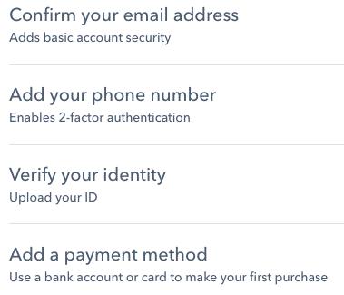 coinbase verification