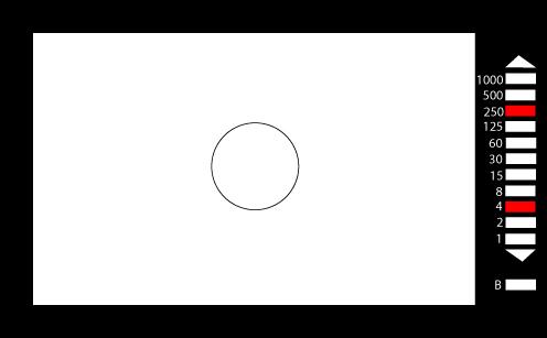 35mm film camera through-the-lens light meter for film