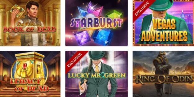 Popular Mr Green Casino Games