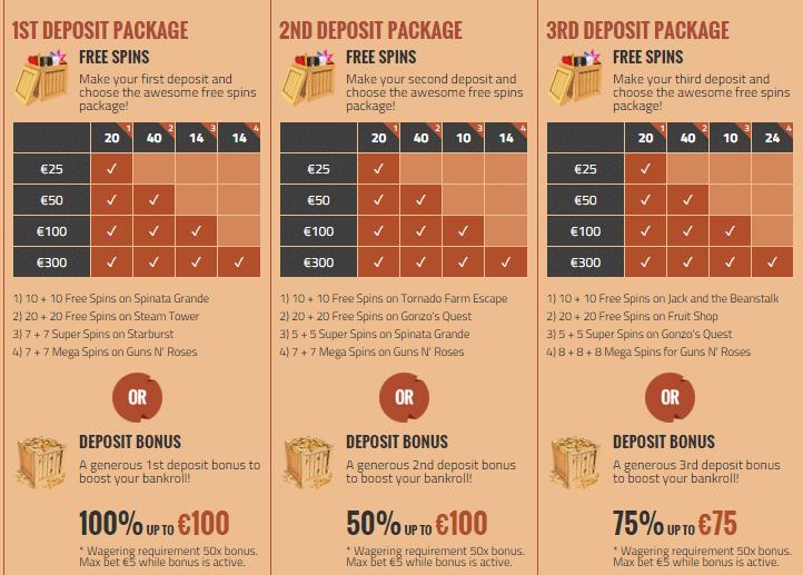 CasinoJEFE Bonus Offers