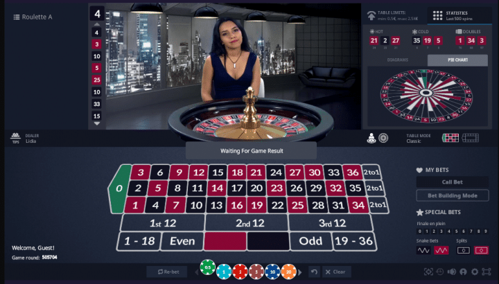 Bet 'N' Spin Casino Live Roulette