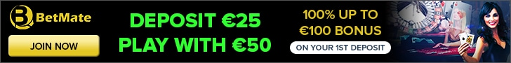 Get a €500 Welcome Bonus + 50 Spins at BetMate Casino