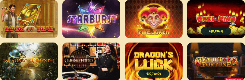 Popular Casoola Casino Games