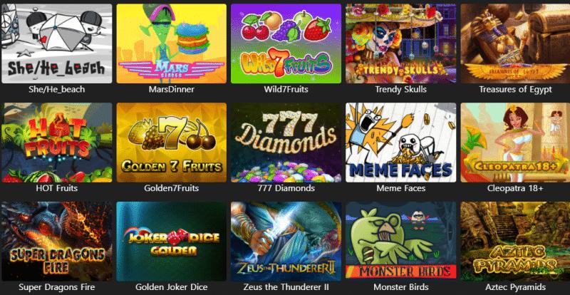 Popular WinMonaco Casino Games