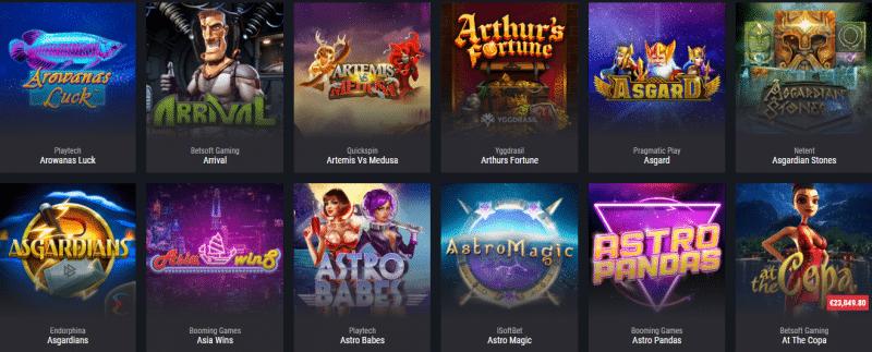 Popular Cobra Casino Games