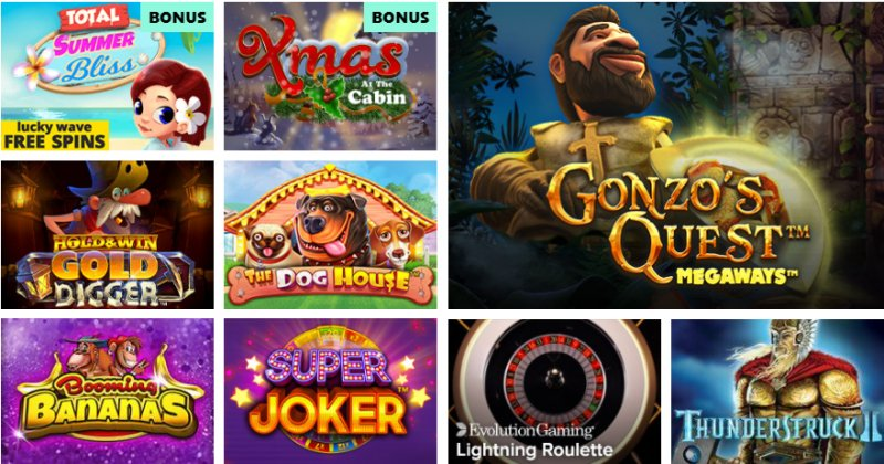 Popular SpinPug Casino Games