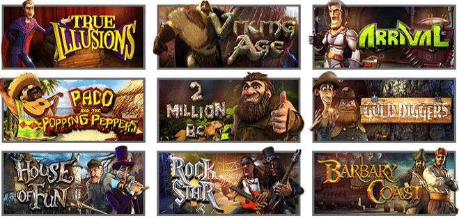 Popular Silveredge Casino Games