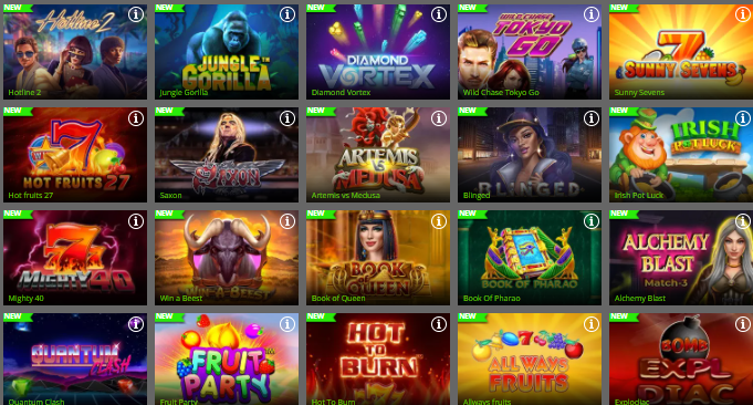 Popular Spin Rio Casino Games