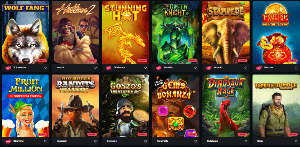 Popular Boomerang Casino Games