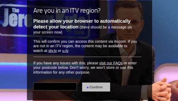 itv error message
