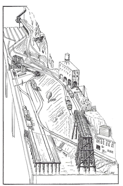 Mine Run Model Railroad Track Plan Coloring Pages