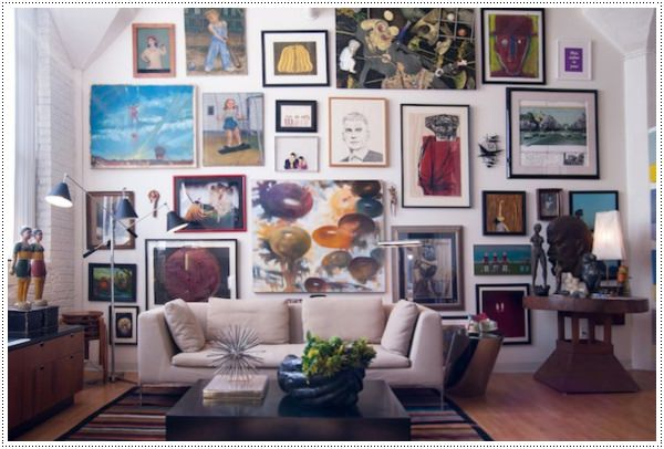 ideas for living room wall art black chair covers 45 easy to make those on a budget artistic design with cool standing