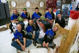 2013: La squadra in visita allo Stand Guidi al Salone Nautico di Genova.