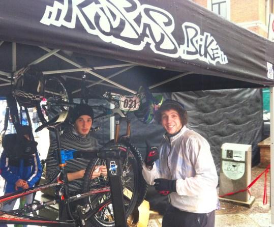 Ultimi preparativi- Detratti Davide e Alex Zampieri (Coggiola Sprint1 2013)