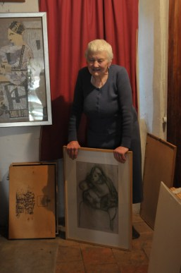 Ada - Preparando la mostra del 2015 alla Pinacoteca di Varallo Sesia