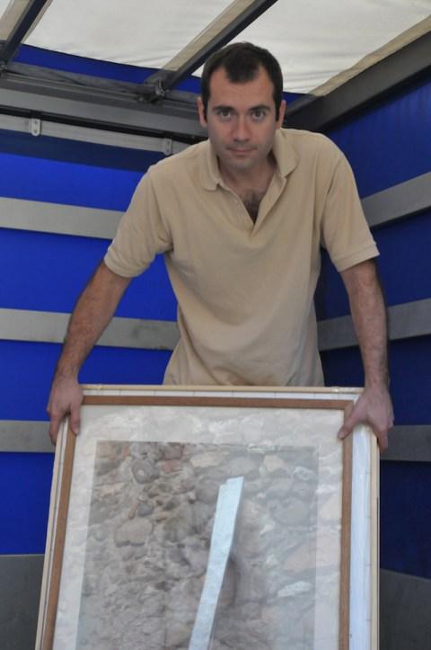 Daniele Guidi - Preparando la mostra del 2015 alla Pinacoteca di Varallo Sesia