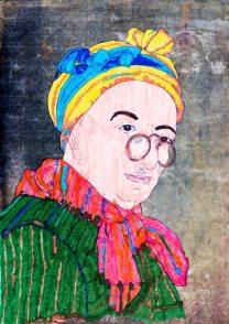 Autoritratto con occhiali – di Jean Simeon Chardin 🍏 Ri-visto da Rosangela