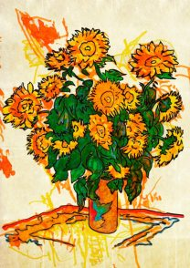 Bouquet di girasoli – di Claude Monet 🍏 Ri-visto da Maria