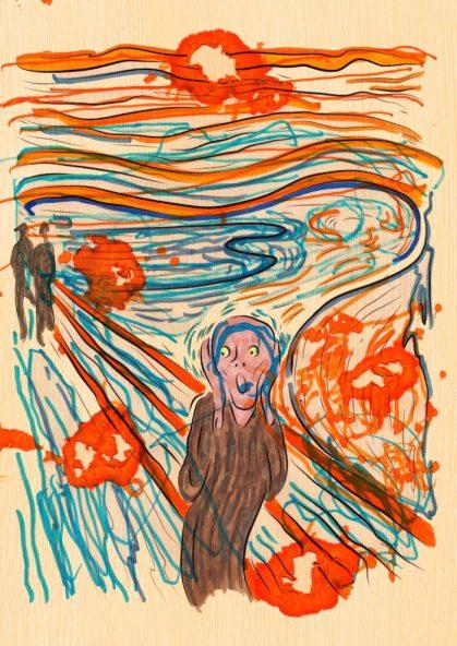 L'urlo – di Edvard Munch 🍏 Ri-visto da Maria