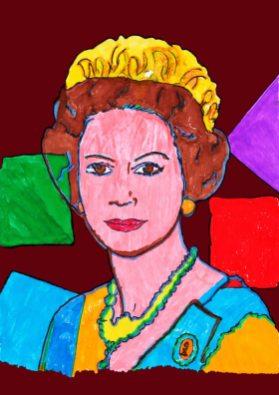 Queen Elizabeth – di Andy Warhol 🍏 Ri-visto da Antonietta