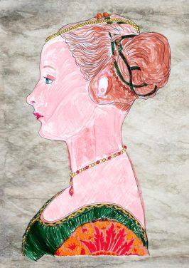 Ritratto di giovane dama – di Piero del Pollaiolo 🍏 Ri-visto da Caterina
