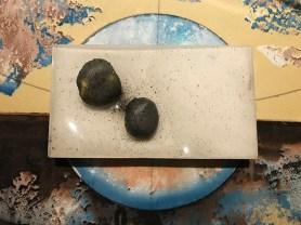 Sasso di baccalà mantecato - Su piatto rettangolare in silicone