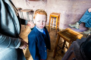 Boy Resident at Ghost Town Doel