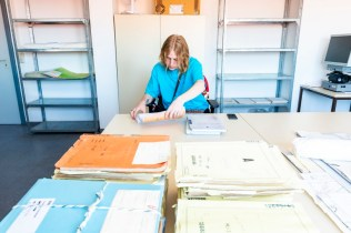 Young Adult visitor to Stasi Archives