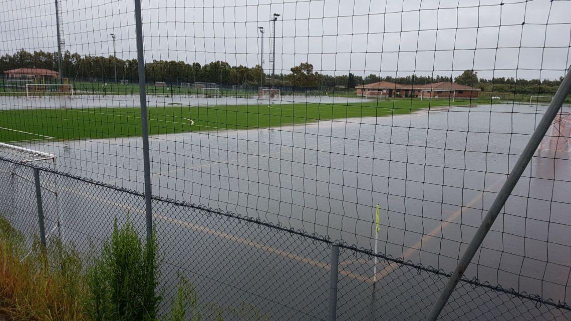 Calcio Over 35 FIGC. Partite del week end rinviate causa allerta meteo