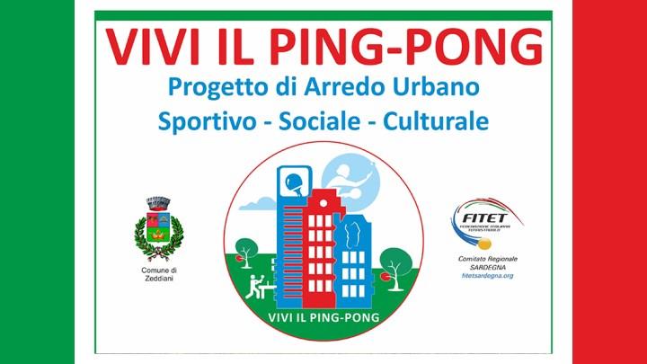 Progetto Vivi il Ping Pong: venerdì 19 ottobre 2018 si inaugura a Zeddiani