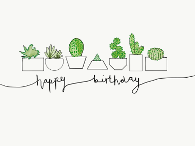 Cacti Birthday Card - £3.00