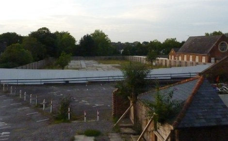 The site near York Road where the Waitrose store will be built.
