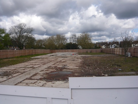The north part of the site looking towards York Road
