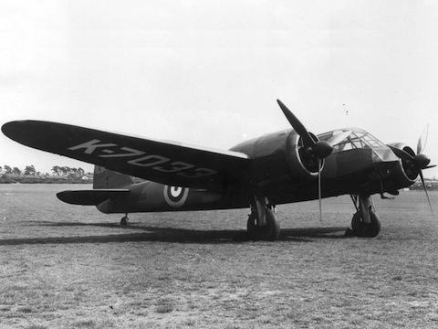 Bristol Blenheim Mk I . Wikimedia Commons.