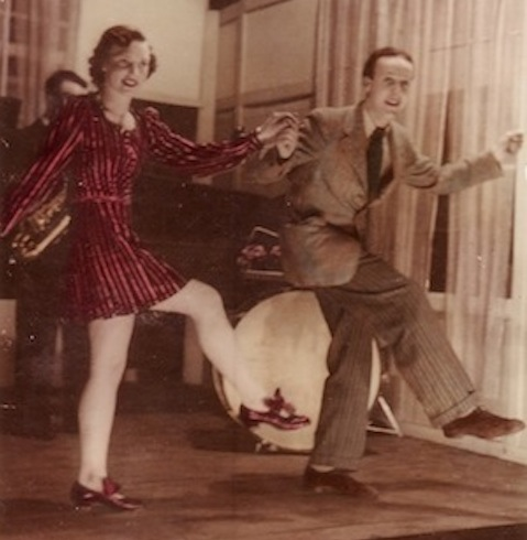 My dad, Arthur Rose, doing his tap dance routine with Dolly Southern.